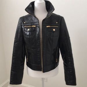 Women's Black Patent leather Jacket